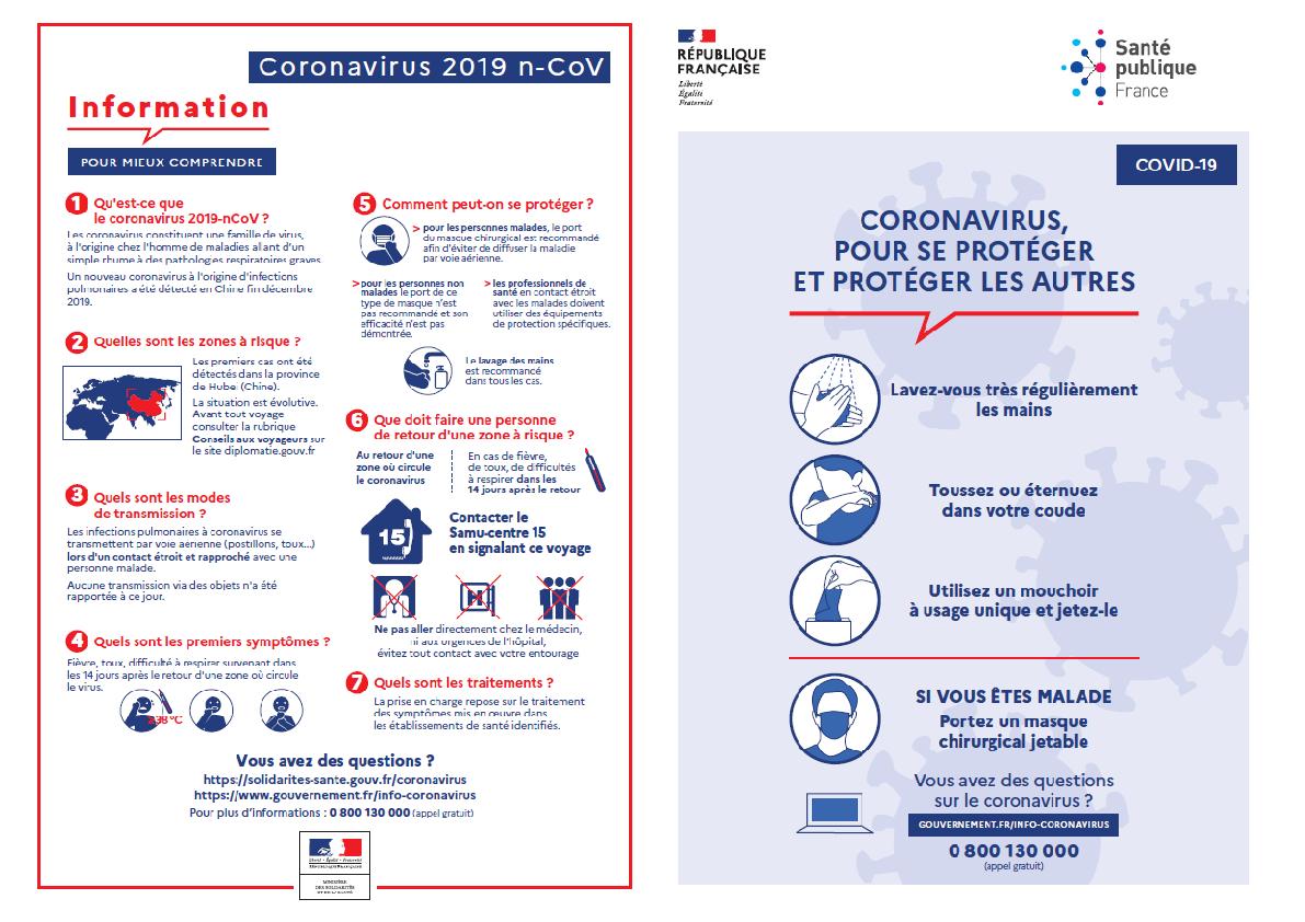 Coronavirus: informations et liens - Par le Secrétaire Général dr. Leonardo Misuraca